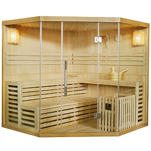 Artsauna Traditionelle Saunakabine/Finnische Sauna Espoo 200 x 200 cm 8 kW