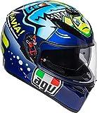 agv K3 SV Misano 2015 Bleu Casque De Moto Integral Taille ML