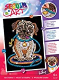 Sequin Art Red, Pug, Sparkling Arts and Crafts Picture Kit, Creative Crafts, Multicolor (1502)