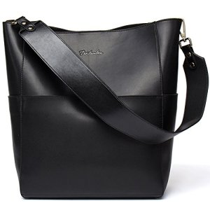BOSTANTEN Women's Leather Designer Handbags Tote Purses Shoulder Bucket Bags 11