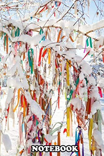 Notebook: A Tree In Winter Covered In Snow And Vibrant Coloured D , Journal for Writing, College Ruled Size 6' x 9', 110 Pages