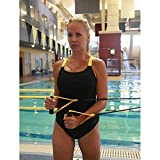 Used for curls, tricep extensions, flies and lat pulls to enhance speed, endurance and swim stroke Includes two handles connected to two 4ft/1.2m tubes and a combination mounting loop Available in five resistance levels No removable components or rep...