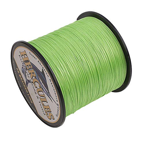 HERCULES Cost-Effective Super Cast 8 Strands Braided Fishing Line 10LB to 300LB Test for...