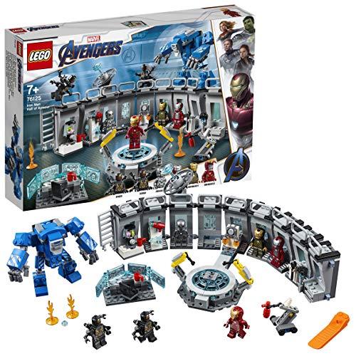 LEGO76125SuperHeroesMarvelAvengersIronMansWerkstatt, Set mit6Minifiguren aus dem...