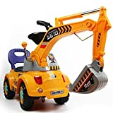 POCO DIVO Digger Scooter, Ride-on Excavator, Pulling cart, Pretend Play Construction Truck (Color May Vary)