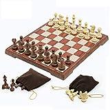Yxxc Juego de ajedrez, Tablero de ajedrez portátil, Tablero Plegable, Juego de ajedrez, Juego de ajedrez Internacional para Fiestas, Actividades Familiares