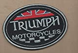 New 2 1/2 X 3 1/2 INCH Triumph Motorcycles Iron ON Patch