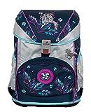 DerDieDas ErgoFlex Superflash - Set de mochila y accesorios escolares (5 piezas), color plateado
