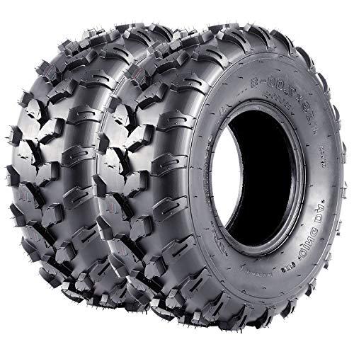 VANACC ATV UTV Tires 19x7-8 Mini Bike Sport Tire 19x7x8 19 7 8, 4PR, Set of 2