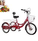 Tricycle Adulte électrique 3 Roues vélo Tricycle vélo 20'' Batterie au Lithium Scout Tricycle avec Panier à provisions et Panier Avant Cadeau pour Les Parents Sortie Shopping économiser