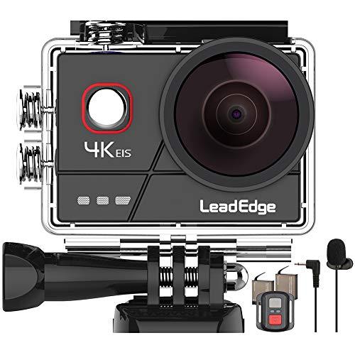 LeadEdge A20 Action Cam4K 20MPEISAnti-Shake Microfono EsternoWiFi 2.0IPSLCDLente Grandangolare di 170 ° Il Telecomando Immersione Subacqueo di 40 Metri 2x1050mAh Casco Impermeabile Videocamera