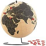 Globe en liège rotatif avec 15épingles de marquage, Ø 25cm [Infactory]