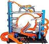 Hot Wheels City Méga Garage, coffret de jeu pour petites voitures avec circuit...