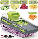 Mueller Austria Premium Quality Mandoline-Pro Multi Blade Adjustable Salad Utensil Cheese/Vegetable Slicer, Cutter, Shredder, Zester with Built-In Blade Storage and Container