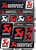 Kit d'autocollants Akrapovic (18 pièces)
