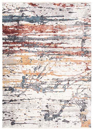 Jupiter Tappeto Moderno di qualita sfumato e brillante per salotto camera soggiorno effetto carving Grigio Marrone Tortora 3092 Grey (200x300cm)