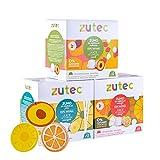 Zutec - Cápsulas de Zumo Surtido (Naranja, Piña y Melocotón) - Compatibles...