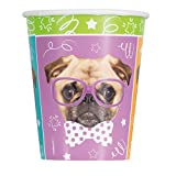 9oz Pug Puppy Birthday Party Cups, 8ct