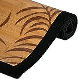 Oriental Furniture Bamboo Rug - Tropical Leaf - 5' x 8'