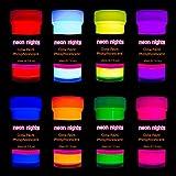 neon nights 8 x Peinture Phosphorescente Autoluminescente Couleur Fluo Luisant...