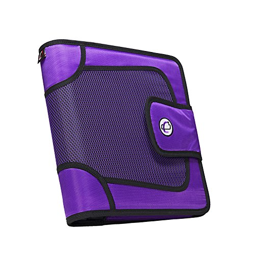 Case-it Open Tab Velcro Closure 2-Inch Binder with Tab File,...
