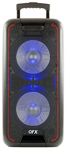 QFX PBX-100 Dual 10' Portable Party Speaker, Black