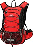Mubasel Gear Insulated Hydration Backpack Pack with 2L BPA Free Bladder - Keeps Liquid Cool up to 4 Hours – for Running, Hiking, Cycling, Camping (Red)