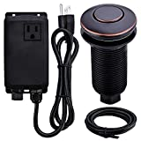 SINKINGDOM Garbage Disposal SinkTop Air Switch Kit with Long Button,Brass Made Cover,Oil Rubbed Bronze