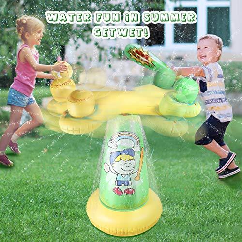 Sprinkler for Kids, (Upgraded 2020 Version) 39in-Diameter Splash Pad, Wading Pool for Learning - Children's Sprinkler Pool, Outdoor Swimming Pool for Kids, Baby, Kid, Pet