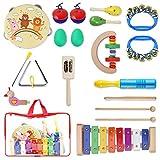 YISSVIC Instruments de Musique pour Enfants, 19Pcs Set Musical Composé de...
