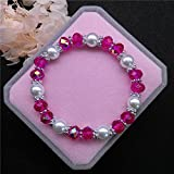 Wholesale Fashion Jewelry 8mm Pearl 8mm Crystal Beads Stretch Bracelet FR08 Cute Charm Trendy Charms Accesories Bangle Accessories Good Bangles