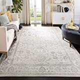 Safavieh Adirondack Collection ADR109C Ivory and Silver Oriental Vintage Distressed Area Rug (9' x 12')