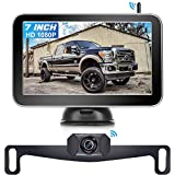AMTIFO W70 HD 1080P Wireless Backup Camera 7 Inch Monitor for Trucks,Cars,Vans,Campers,Hitch Rear View Camera Kit with Digital Stable Signal,DIY Guide Lines