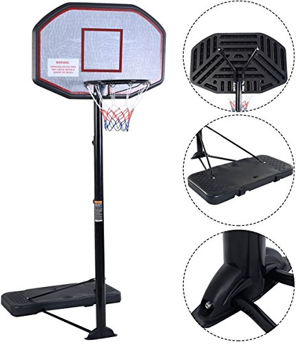 Movement God Pro Court Height-Adjustable Portable Basketball Hoop...