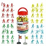 Liberty Imports Cowboys and Indians Big Bucket of Toy Soldiers Army Men Figurines (140 Pcs)