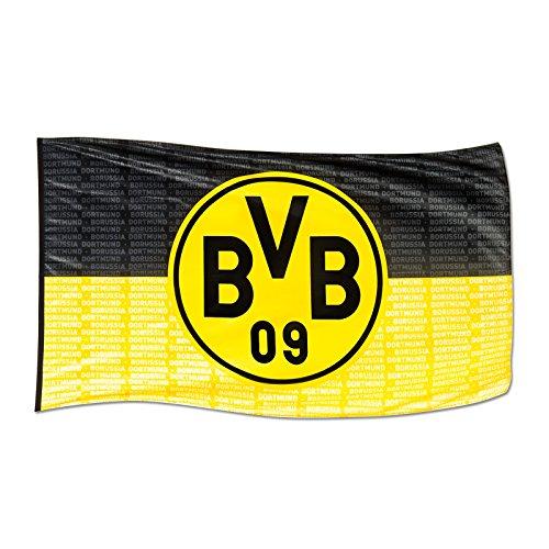 Borussia Dortmund, BVB-Hissfahne, Schwarz/gelb, 250x150cm