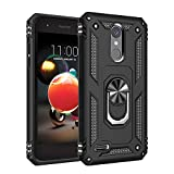 Phone Case for [LG Rebel 4 (L212VL, L211BL)], [Ring Series][Black] Shockproof [Rotating Metal Ring] Cover with [Kickstand] for LG Rebel 4 (Tracfone, Simple Mobile, Straight Talk, Total Wireless)