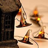Halloween Festive Lights for Decorations Idea, Witch Hat Themed String Lights 10 ft, 20 LEDs Multi Flicker Modes with Battery/USB Cord Powered for Cosplay, Wedding, Birthday Pary, Bedroom, Living Room