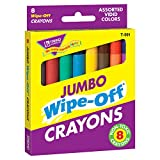 Trend Enterprises Jumbo Wipe-Off Crayons Novelty (Pack of 8)