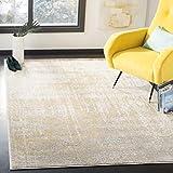 Safavieh Adirondack Collection ADR207A Modern Abstract Area Rug, 8' x 10', Cream/Gold