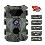 COOLIFE Caméra de Chasse 2.7K 20MP Vision Nocturne 35m Vitesse de...
