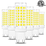 Hansang G9 Led Light Bulb,6W Chandelier Light Bulbs (60W Halogen Equivalent),88PCS LED,6000K Daylight White,Non-dimmable,G9 Bi Pin Base,360 Degrees Beam Angle,600LM,Pack of 6