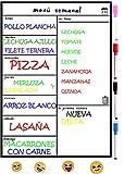 Pizarra Magnetica para Nevera,Planificador de Menu,Dieta, Recordatorio, Lista de la Compra...