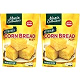 "Marie Callender's CornBread Mix, Original Flavor, 1LB BAG. Just Add Water, Mix, and Bake. Makes 8"" Loaf (Pack of 2)"