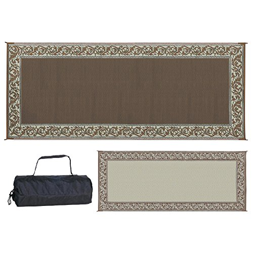 Stylish Camping RC7 Brown/Beige 8' x 20' Classical Mat, 1 Pack