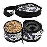 RCRuning-EU Collapsible Dog Bowl Set,Waterproof Gamelle pour...