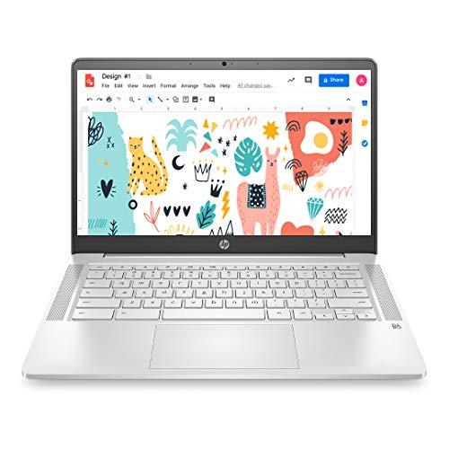 HP Chromebook 14-inch (35.56 cms) Thin & Light Touchscreen Laptop (Celeron N4020/4GB/64GB eMMC +...