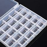 Spulenbox Spulenbox Spulenbox Spulenbox Kunststoff Spulenbehälter Spulenorganizer Transparente Box Aufbewahrung Zuhause für 25 Spulen Organisation