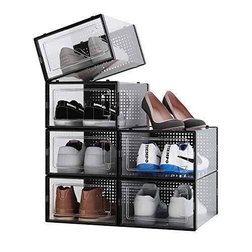 ALEMOK Cajas de Zapatos Transparentes, Organizador de...