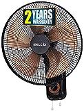 iBELL-BLADE-WF16 Wall Fan 5 Leaf, Low Noise Motor,High Speed, Black